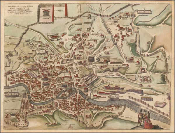 20-Rome Map By Georg Braun  &  Frans Hogenberg