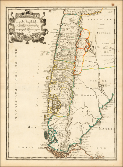 45-Argentina and Chile Map By Nicolas Sanson