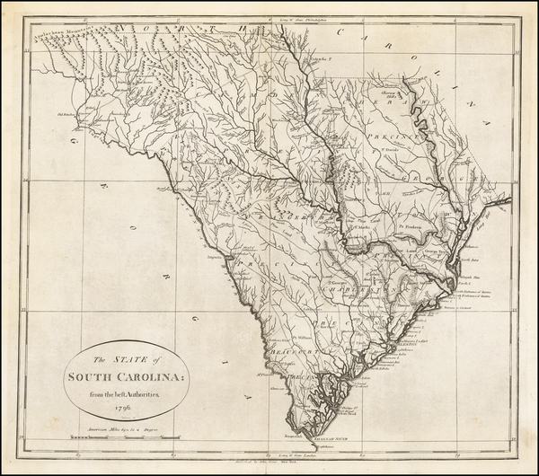37-South Carolina Map By John Reid