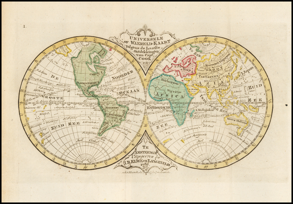 World Map By Jan Barend Elwe
