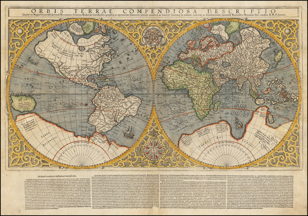 40-World Map By Rumold Mercator