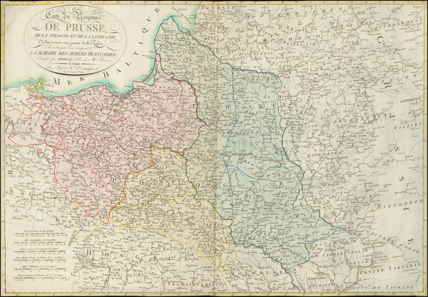 Poland and Baltic Countries Map By Eustache Herisson
