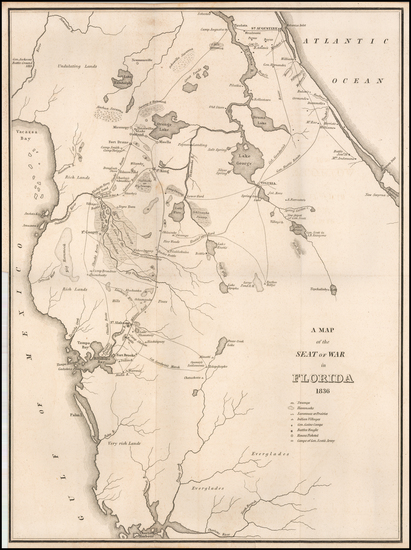 47-Florida Map By American State Papers