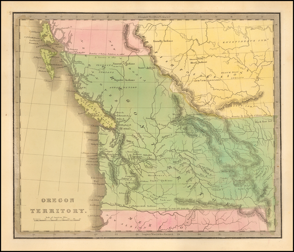 58-Pacific Northwest, Oregon, Washington and Canada Map By Jeremiah Greenleaf