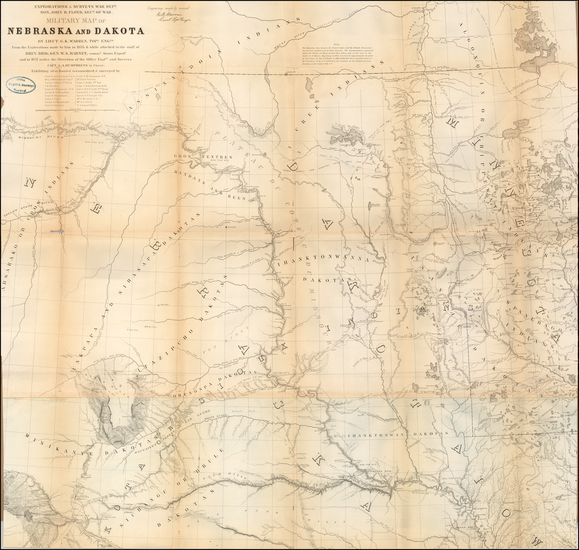 47-Midwest and Plains Map By G.K. Warren