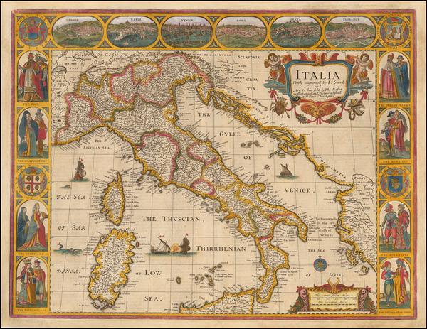 22-Italy Map By John Speed