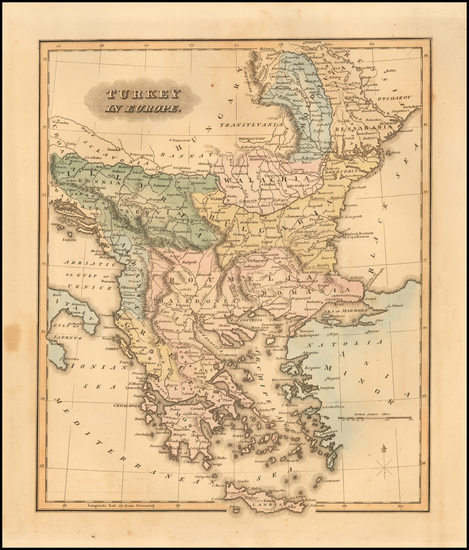 48-Greece and Turkey & Asia Minor Map By Fielding Lucas Jr.