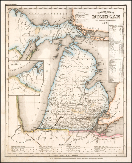 Michigan Map By Joseph Meyer