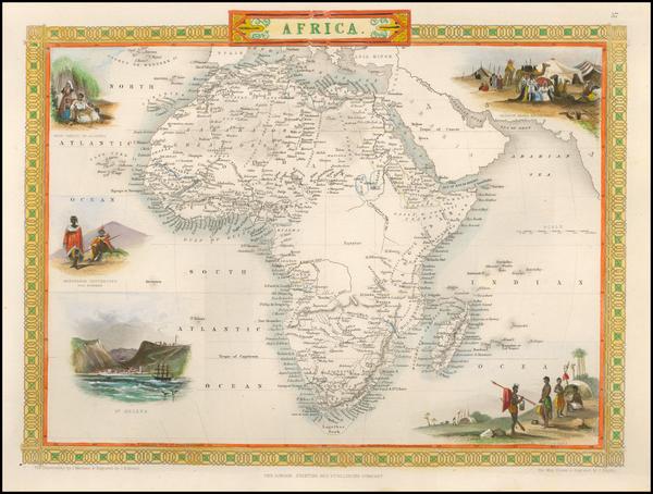 69-Africa Map By John Tallis