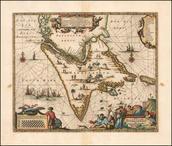 14-Argentina and Chile Map By John Ogilby