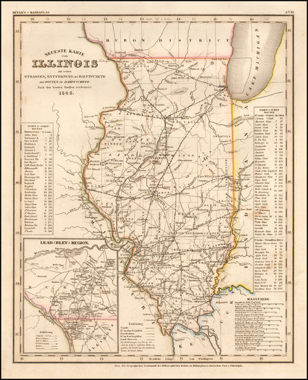 33-Illinois Map By Joseph Meyer