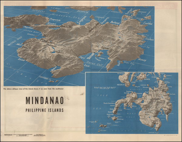 62-Philippines and World War II Map By United States GPO