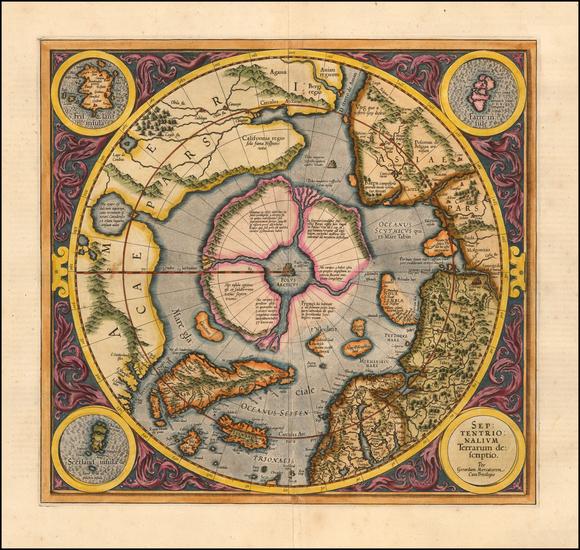 78-Northern Hemisphere and Polar Maps Map By Gerard Mercator