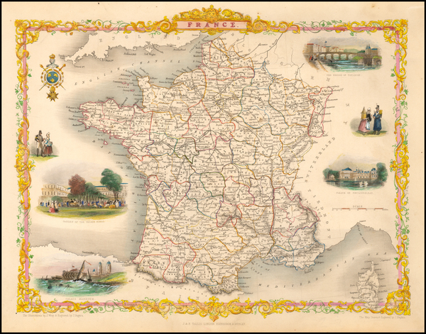 21-France Map By John Tallis