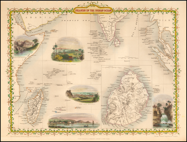 19-India and Other Islands Map By John Tallis