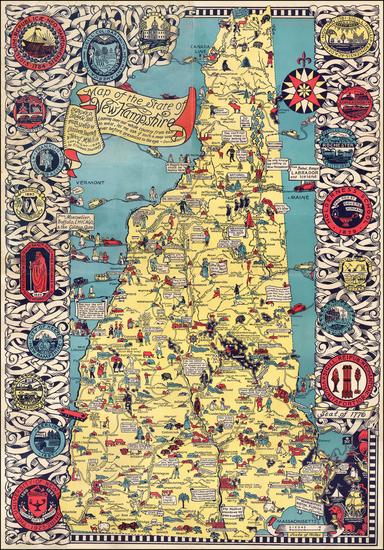 35-New Hampshire Map By Elizabeth Shurtleff  &  Helen F. McMillin