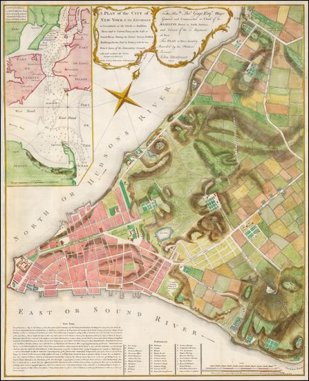 62-New York City Map By Valentine's Manual / John Montresor