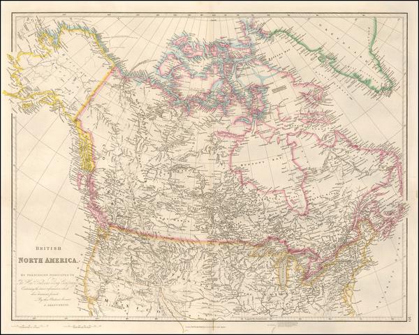 99-Plains, Rocky Mountains, Alaska and Canada Map By John Arrowsmith
