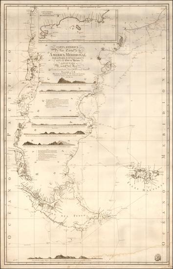 55-South America, Argentina and Chile Map By Direccion Hidrografica de Madrid