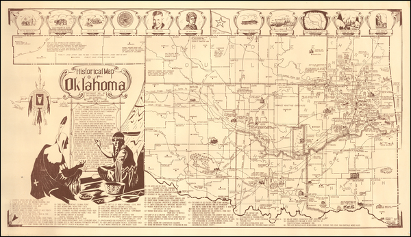 47-Oklahoma & Indian Territory Map By H. Z. Sanders