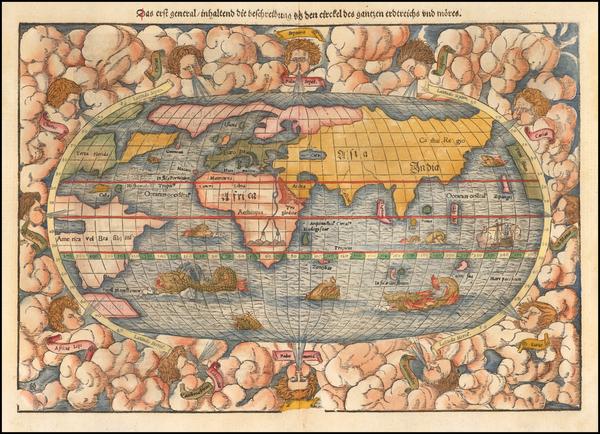 World Map By Sebastian Münster