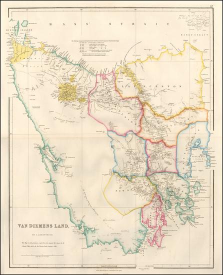 1-Australia Map By John Arrowsmith