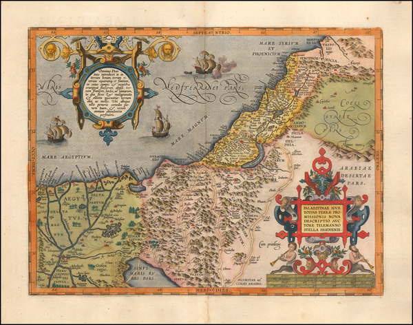 79-Holy Land Map By Abraham Ortelius
