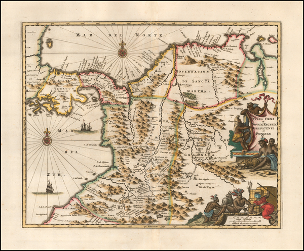 25-Central America Map By John Ogilby