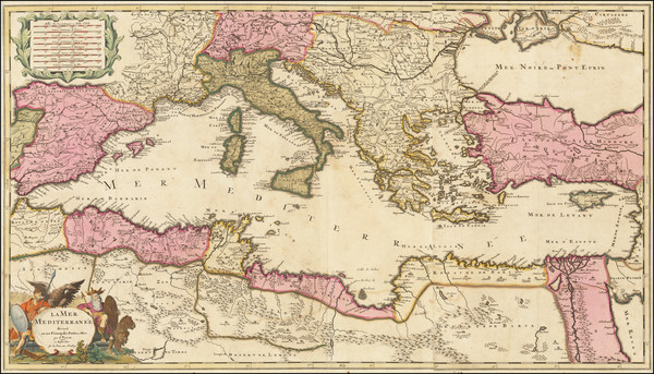 3-Mediterranean Map By Gerard Valk