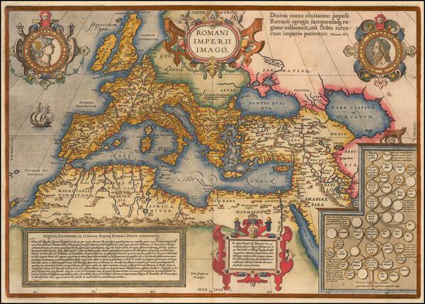 79-Europe, Italy, Mediterranean and Turkey & Asia Minor Map By Abraham Ortelius