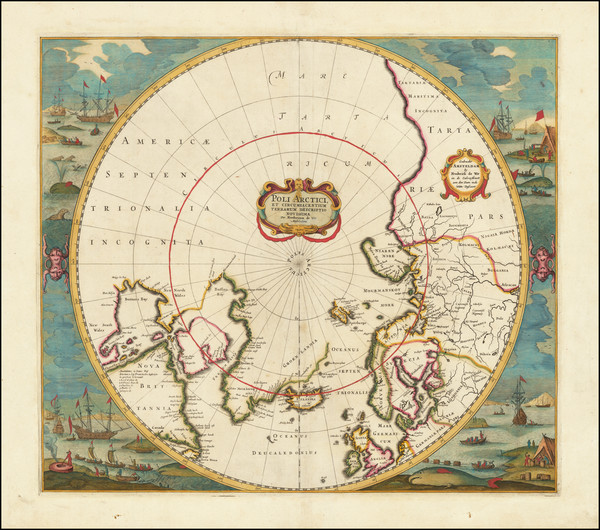 43-Polar Maps Map By Frederick De Wit