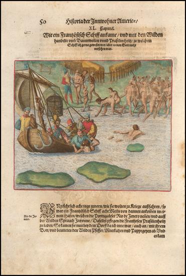 47-Brazil Map By Theodor De Bry