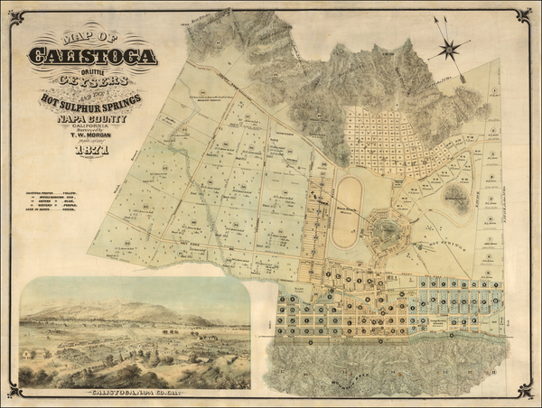 82-California and Other California Cities Map By Thomas Wolfe Morgan