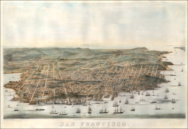 60-San Francisco & Bay Area Map By Charles   Braddock Gifford
