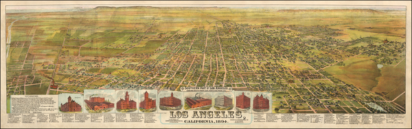33-Los Angeles Map By B.W. Pierce