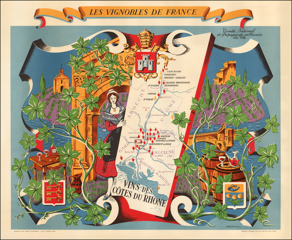 France and Pictorial Maps Map By Remy Hetreau