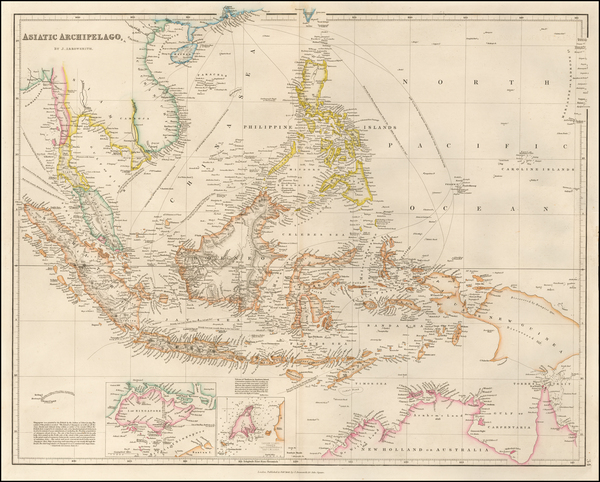 42-Southeast Asia, Philippines, Singapore, Indonesia and Malaysia Map By John Arrowsmith
