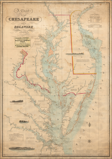 Mid-Atlantic, Maryland, Delaware, Southeast and Virginia Map By Fielding Lucas Jr.