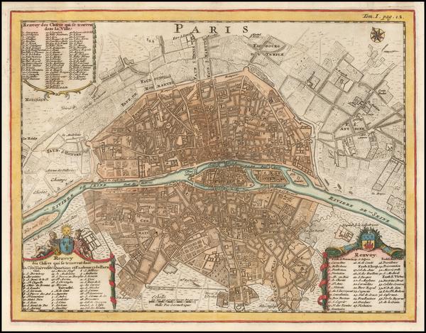 98-Paris Map By Nicolas de Fer