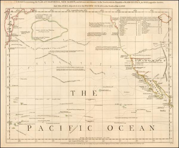 32-Rocky Mountains, Alaska, Baja California, Pacific and California Map By Thomas Jefferys