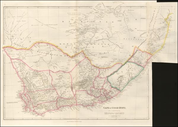 South Africa Map By John Arrowsmith