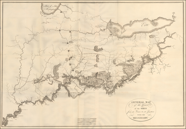 7-South, Kentucky, Tennessee, Midwest, Illinois, Indiana and Ohio Map By Victor George Henri Coll