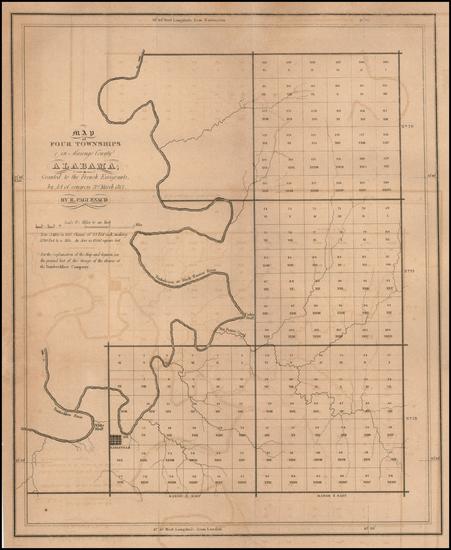 27-Alabama Map By E. Paguenaud