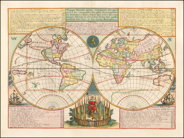71-World Map By Henri Chatelain