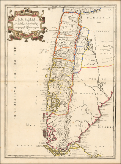 71-Argentina and Chile Map By Nicolas Sanson