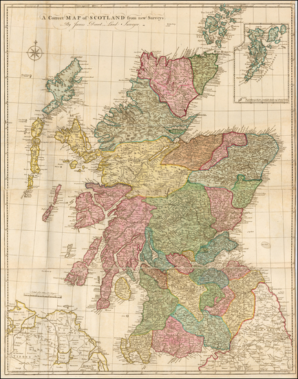 Scotland Map By James Dorret
