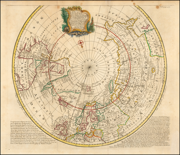37-Northern Hemisphere, Polar Maps and Canada Map By Emanuel Bowen