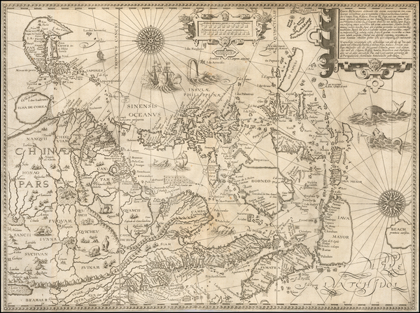 4-China, Japan, Korea, Southeast Asia and Philippines Map By Jan Huygen Van Linschoten