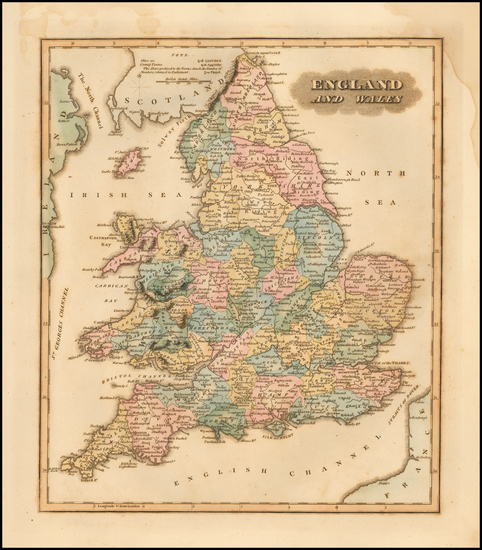 69-England and Wales Map By Fielding Lucas Jr.