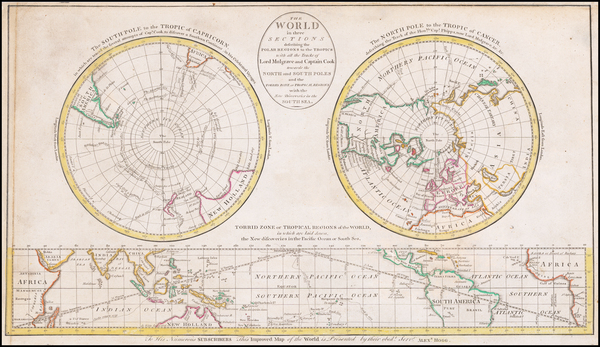 World and Polar Maps Map By Alexander Hogg